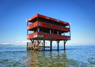 Volcom Tower at Tavarua Island